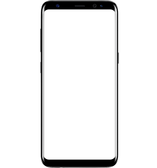 Outline of translucent Galaxy S8